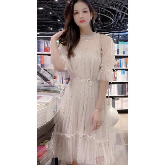 2134109460 - Váy đầm Hàn Quốc MS55 - Banquet evening dress 2019 new fashion simple and generous bridesmaid fairy temperament