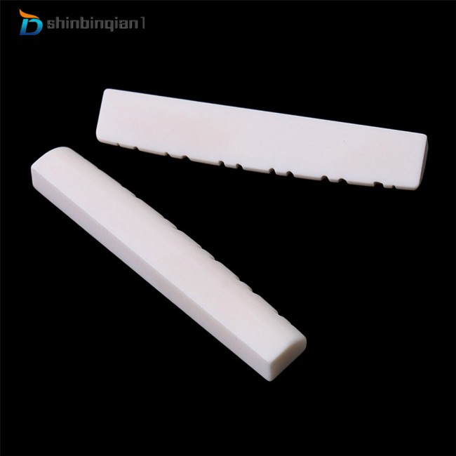 1 Set Bone Slotted Bridge Saddle Nut Material for 12 Strings Acoustic Guitar Replacement Parts