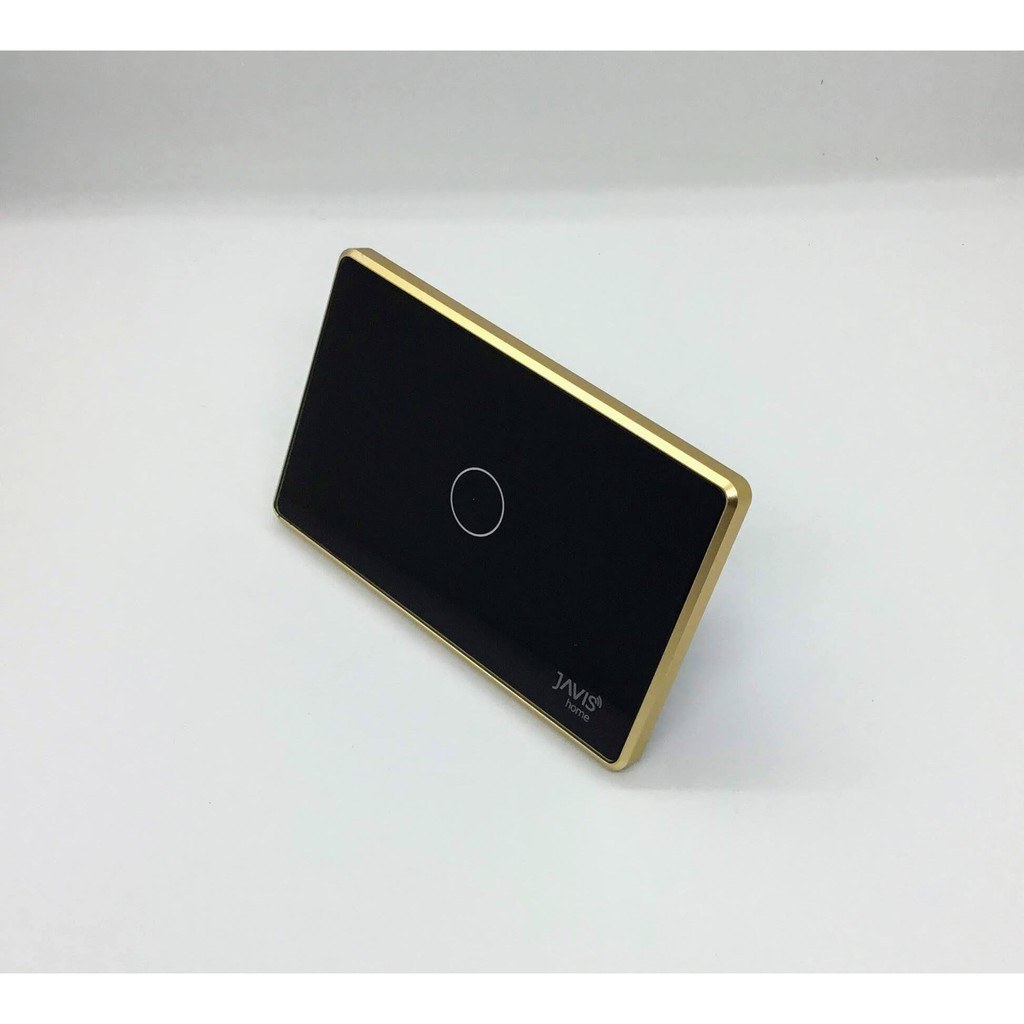 Công tắc thông minh JAVIS 1 nút viền vàng. Công tắc cảm ứng WIFI hỗ trợ  Google/Alexa/Hass-MQTT giảm chỉ còn 950,000 đ