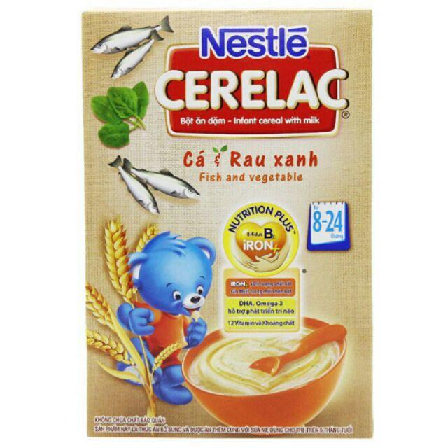 Bột ăn dặm Nestle Cá Rau Xanh cho trẻ hộp 200g