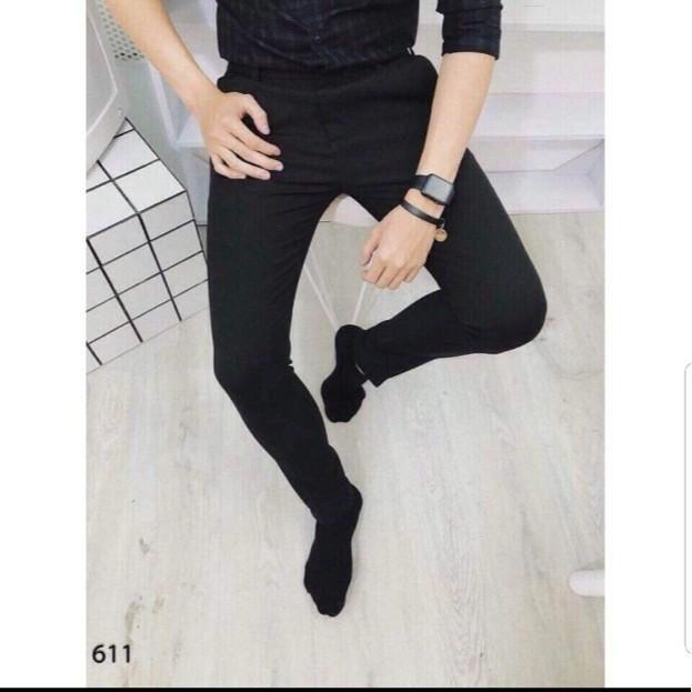 Quần tây âu nam vải Kaki mềm mịn co giãn màu đen nhẹ nhàng trẻ trung ms 16