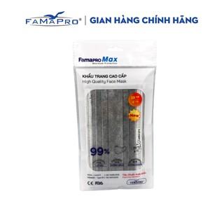 Khẩu trang y tế cao cấp 4 lớp kháng khuẩn Famapro max màu xám (10 cái túi ) thumbnail