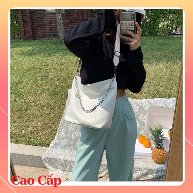 (Siêu Phẩm) Túi xách nữ vừa sách vở túi tote da hoa cúc công sở vừa A4 đi hoc đi làm hàng đẹp TOTECUC01