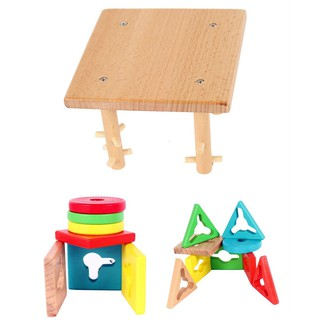 Recognition Educational Preschool Wooden Color and Shape Geometric Sort