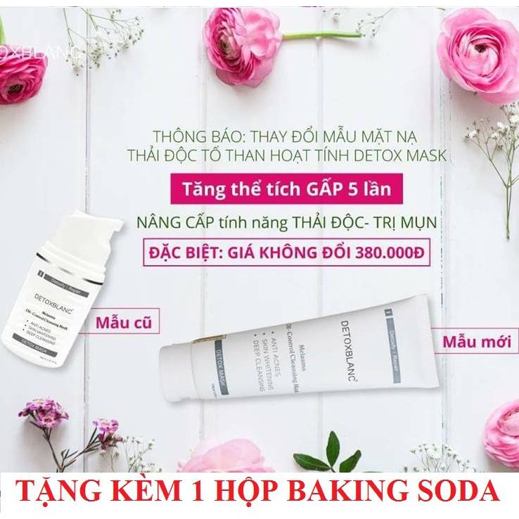 Mặt nạ sủi bọt thải độc Detox BlanC Mask 150ml + Tặng 1 hộp làm trắng răng trắng răng Baking Soda 50 - 3400141 , 986923961 , 322_986923961 , 340000 , Mat-na-sui-bot-thai-doc-Detox-BlanC-Mask-150ml-Tang-1-hop-lam-trang-rang-trang-rang-Baking-Soda-50-322_986923961 , shopee.vn , Mặt nạ sủi bọt thải độc Detox BlanC Mask 150ml + Tặng 1 hộp làm trắng răng t