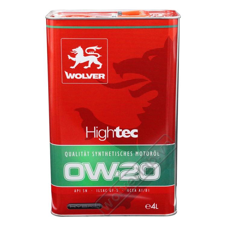 Wolver HighTec HYBRID 0W-20 4L_Nhớt động cơ ô Tô cao cấp nhập  Đức