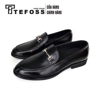 Giày nam da bò TEFOSS HT511 Loafer/moca sang trọng và thời trang size 38-43