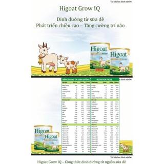 Sữa dê Higoat Grow IQ loại 400g 800g thumbnail