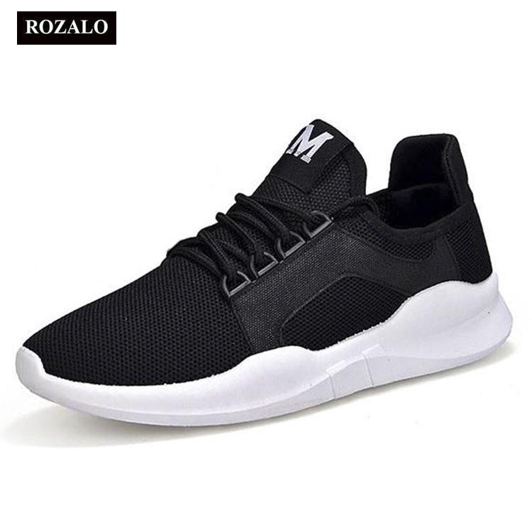 Giày đôi sneaker thời trang nam nữ Rozalo RM8011WB- Đen