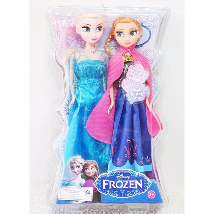 Bộ 2 búp bê công chúa Elsa và Anna, búp bê bé gái cao 28cm. 100AK