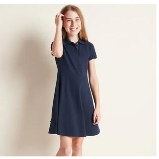 ( 4-8 tuổi) Váy hè ngắn tay cổ polo màu xanh Navy nhãn hiệu GEORGE cho bé gái