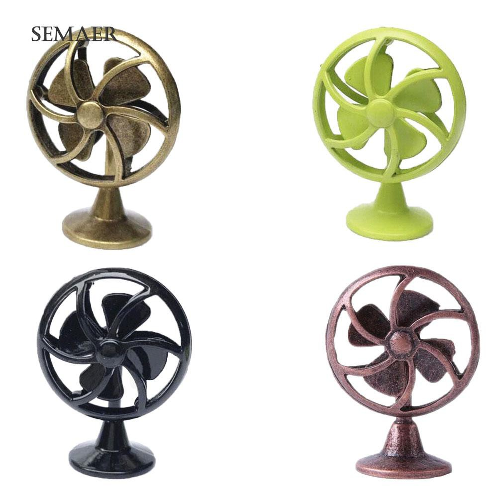 ★SP Dollhouse Miniature 1:12 Retro Alloy Electric Fan Home Furniture Accessory
