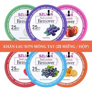 25pcs Tẩy sơn móng tay hương trái cây làm sạch dưỡng ẩm cho móng-URBXJJ thumbnail