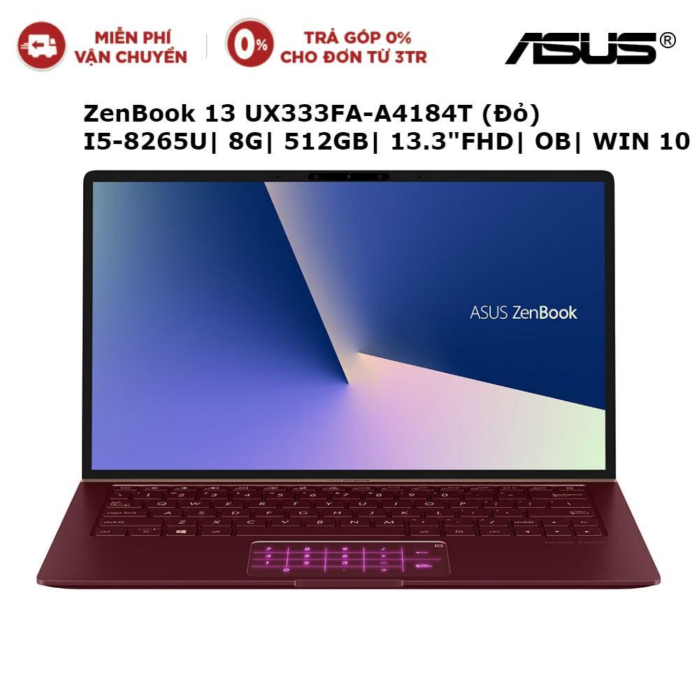 Laptop ASUS ZenBook 13 UX333FA-A4184T Đỏ I5-8265U| 8G| 512GB| 13.3
