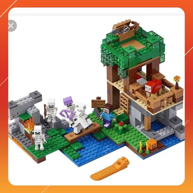 [Siêu Sock] Lego Minecraft my world 18041 Cuộc tấn công của tộc xương