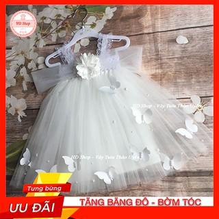 Đầm cho bé gái 1 tháng tuổi / 5 tuổi 💖FREESHIP💖 Đầm trắng cho bé gái