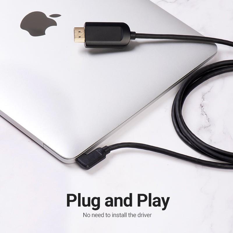 Dây cáp chuyển đổi VENTION từ HDMI sang đầu USB C hỗ trợ 3 4K 60Hz cho iPad Pro MacBook Pro 2018 Galaxy S9