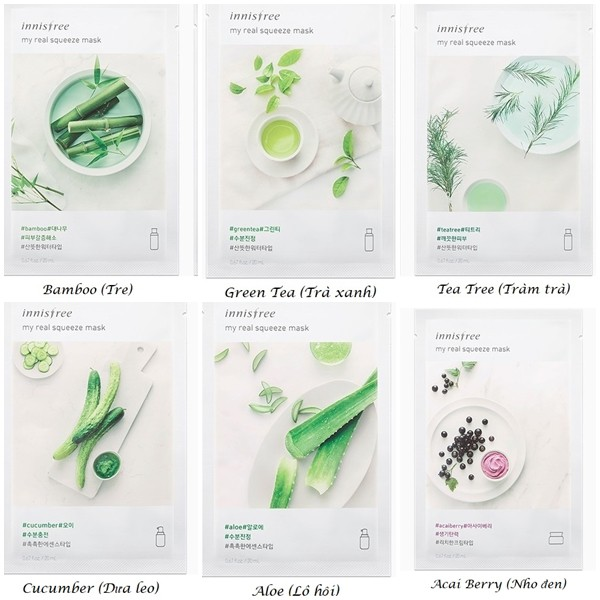 MẶT NẠ GIẤY INNISFREE MY REAL SQUEEZE MASK (NEW 2017)