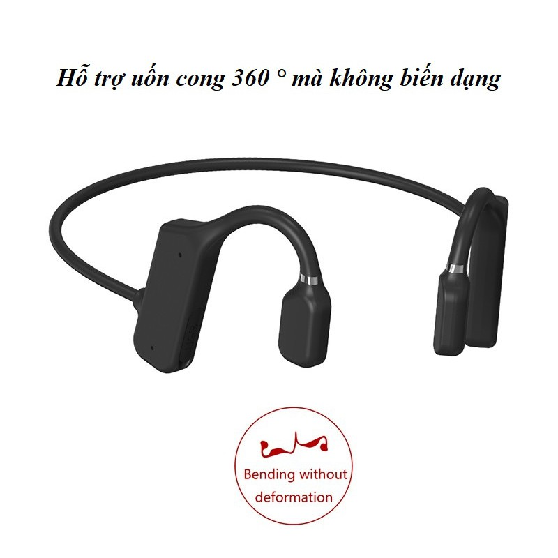 Tai Nghe Nhét Tai ❤️FRRESHIP❤️ Tai Nghe Dẫn Xương Truyền Âm Thanh Qua Xương Sọ - Tai Nghe Bluetooth X19 Âm Thanh Sống Độ
