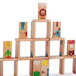 Bộ Domino xếp hình gỗ – 28 miếng