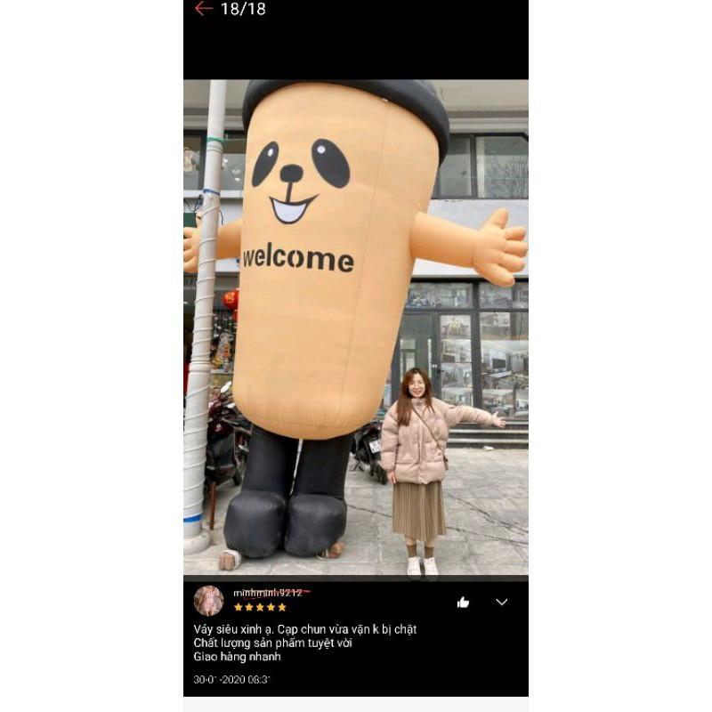 SẴN HÀNG | Chân Váy midi xếp ly nhỏ kiểu Hàn Quốc hàng Quảng Châu loại 1 _ kèm ảnh thật