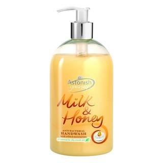 Nước rửa tay diệt khuẩn Astonish chiết xuất từ sữa tươi và mật ong (500ml) thumbnail