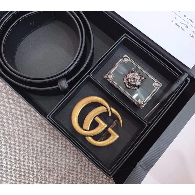(FULL BOX) Bộ 2 Mặt Thắt Lưng Da Nam Cao Cấp TL083