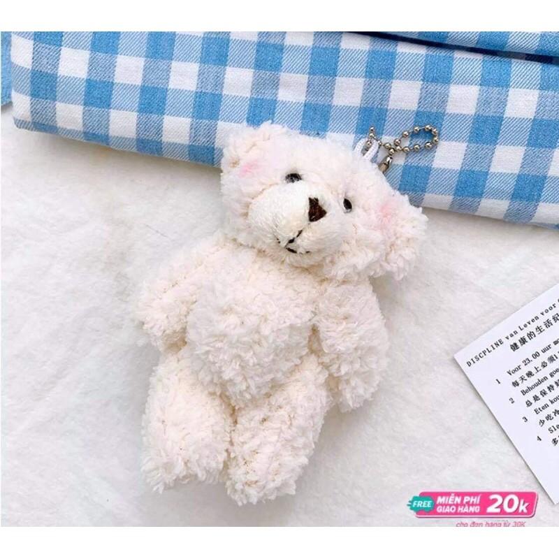 [Mã FASHIONGREEN264 giảm 10% tối đa 30k đơn từ 99k] Balo vải chống thấm tăng sticker và móc gấu trắng 914