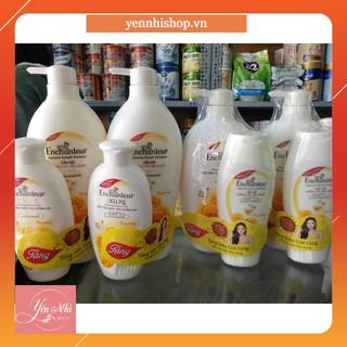 Sữa tắm,dầu gội nước hoa Enchanteur 650g tặng kèm chai sữa tắm,dầu gội 150g