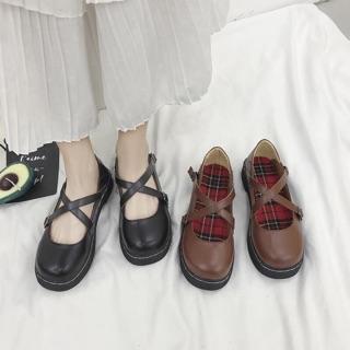 Giày ullzzang da QUAI CHÉO mã 004 CÓ ẢNH THẬT