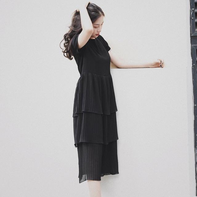 Váy xuông đen petbychang