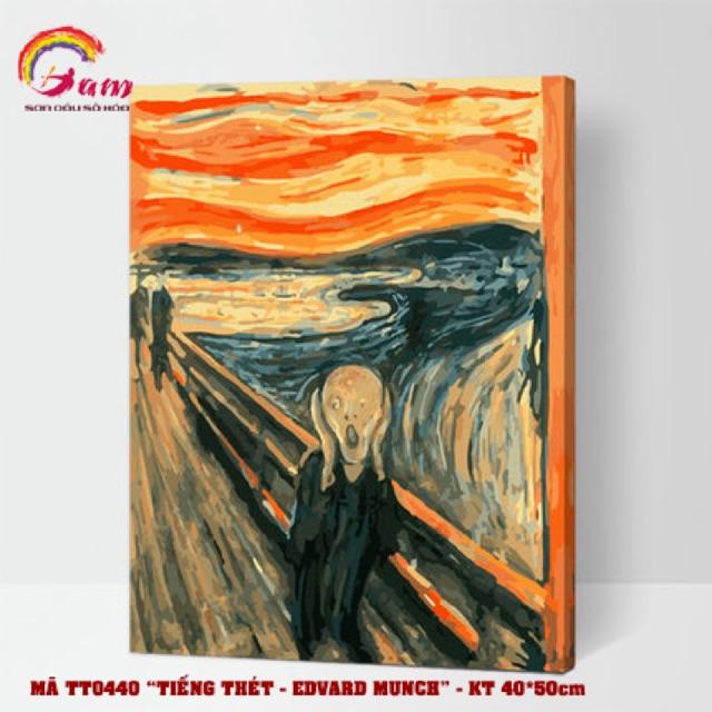 Tranh sơn dầu tự tô màu số hoá - Mã TT0440 Tiếng thét Edward Munch
