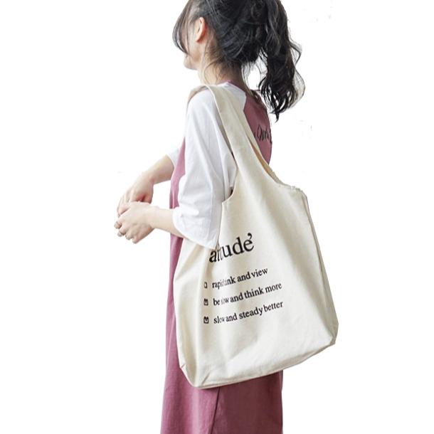 [Mã FASHIONGREEN44 giảm 10K đơn 50K] Túi Vải Đeo Vai Phong Cách Nhật Bản Cao Cấp XinhStore