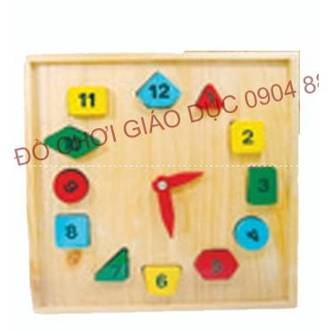 Đồng hồ số học hình mẫu 2