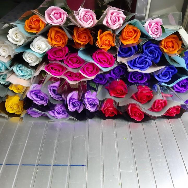 combo 5 bông lẻ hoa hồng sáp thơm