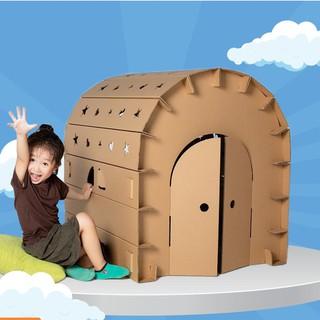 Nhà giấy lắp ráp carton cho bé SIZE LỚN 100x84x78 cm thumbnail