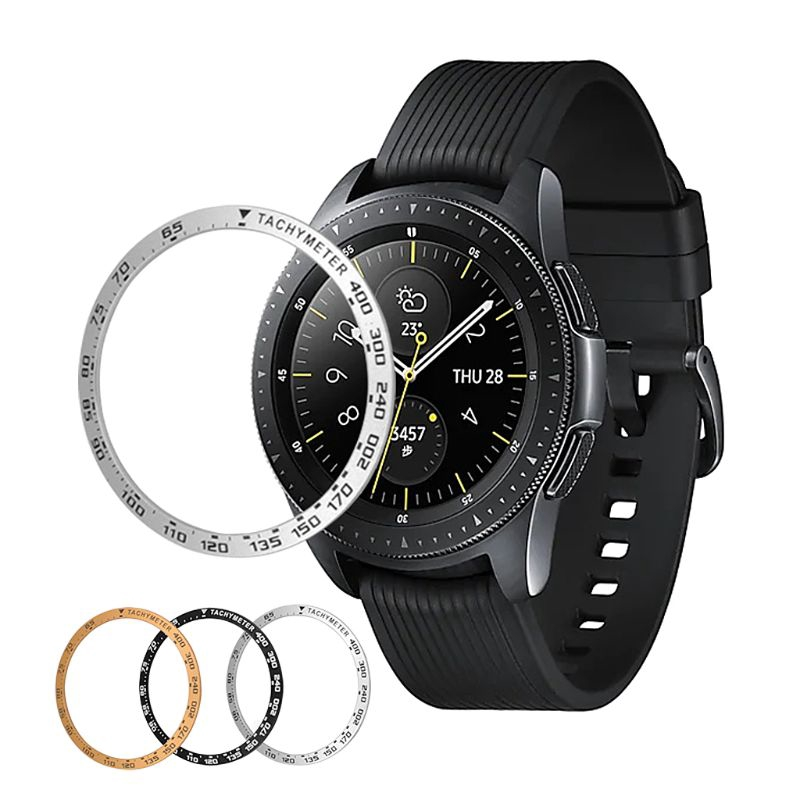 Anti Scratch Metal Bezel Ring Adhesive Cover for Samsung Galaxy 42MM/46MM/Gear S3 Smart Watch