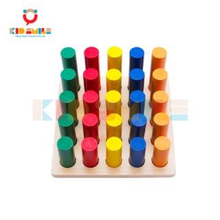 Đồ Chơi Gỗ Thông Minh Các Mẫu Hình Trụ Tròn Montessori (Cylinder Ladder)