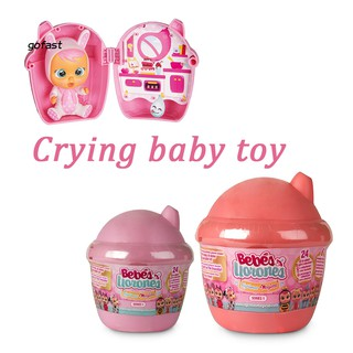 Lovely Pocket Plastic Magic Tears Crying Baby Toy Kids Children Cartoon Doll
