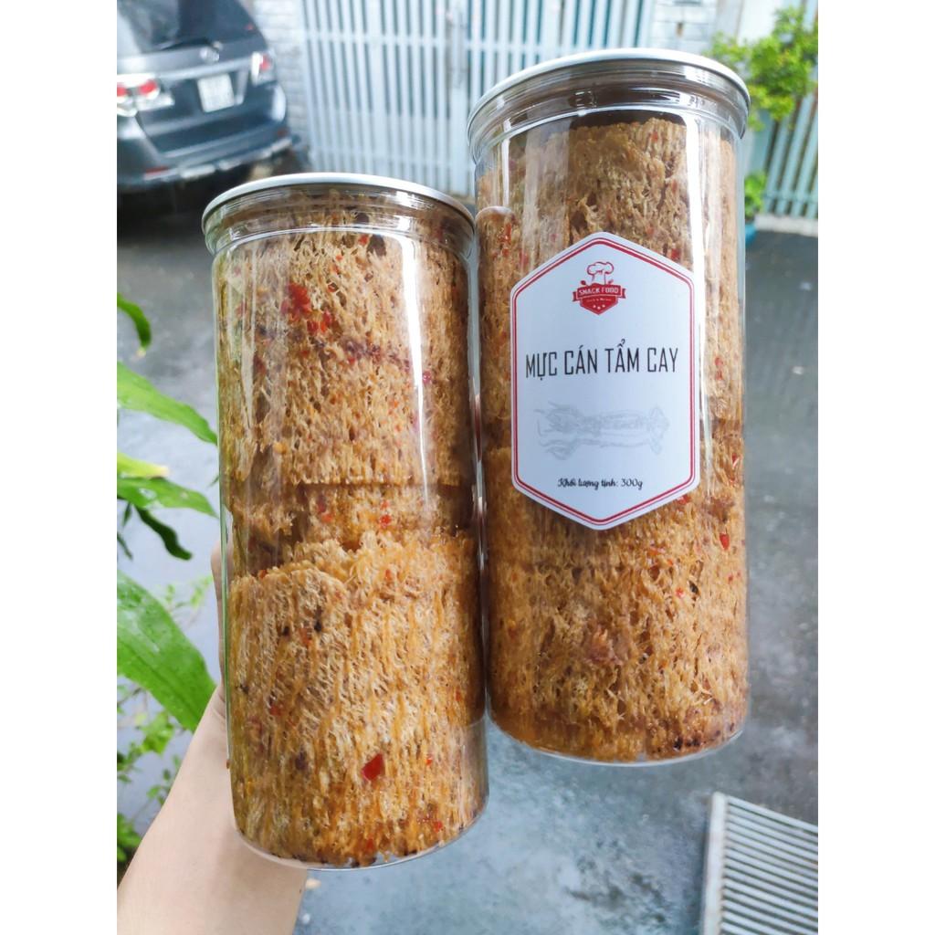 [Mã GROSALEHOT giảm 8% đơn 250K] Mực cán tẩm gia vị cay, LOẠI 1, kèm tưởng ớt, hủ pet 300gr, Snack Food