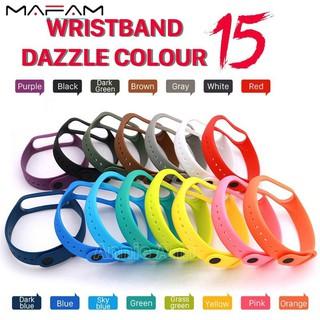 Xiaomi Mi Band 3 4 Strap Replacement Original Silicone Colorful Full Bracelet M3 M4 Wristband Smartwatch