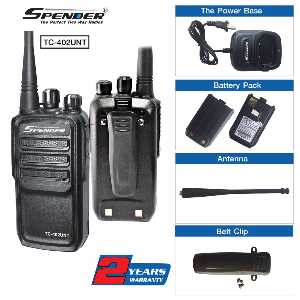 Bộ đàm Spender TC-402UNT - 13702935 , 1257791777 , 322_1257791777 , 1299000 , Bo-dam-Spender-TC-402UNT-322_1257791777 , shopee.vn , Bộ đàm Spender TC-402UNT