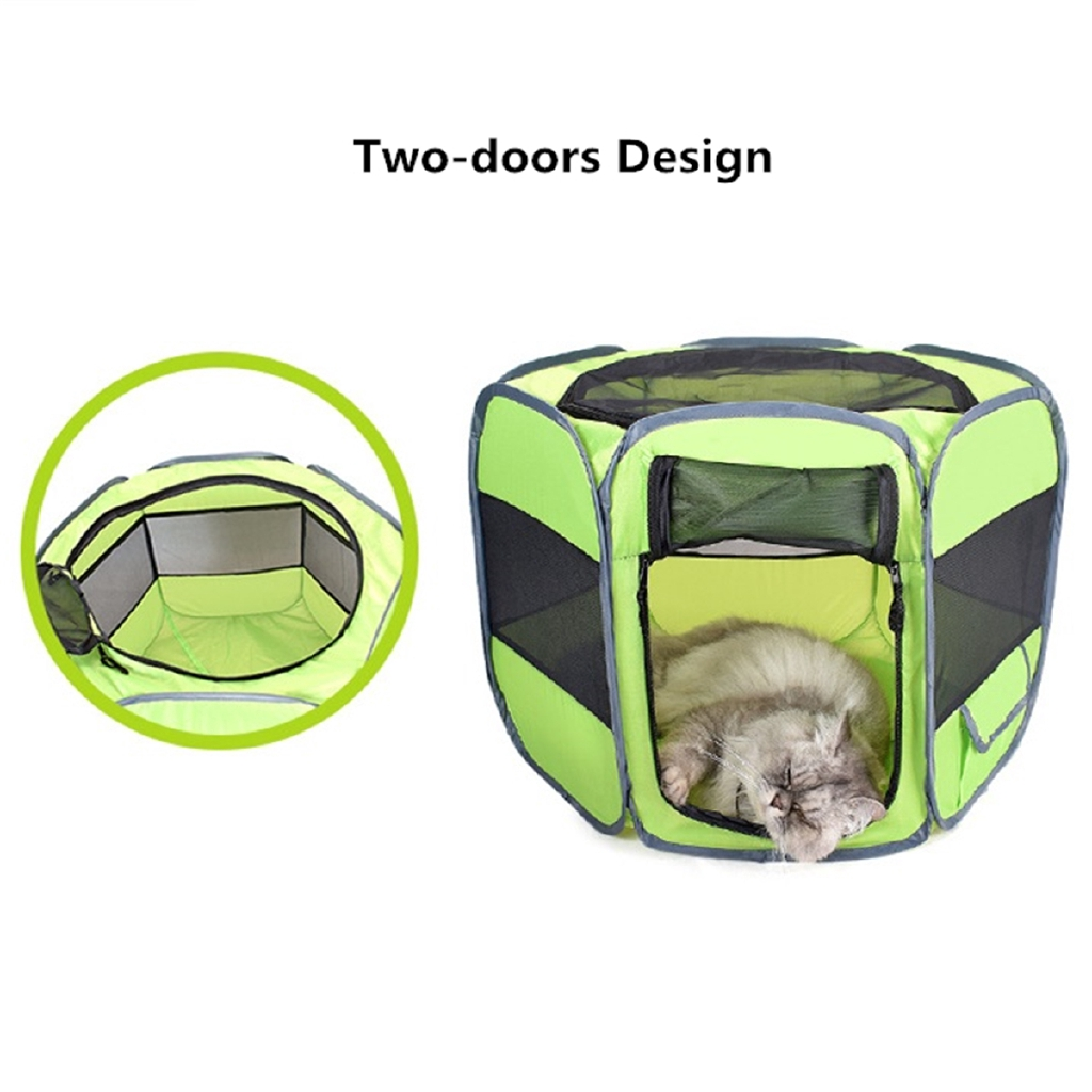 ⌘⌘ Portable Dog Cat Pet Tent Cage Folding Kennel Puppy Playpen House Bed Fence