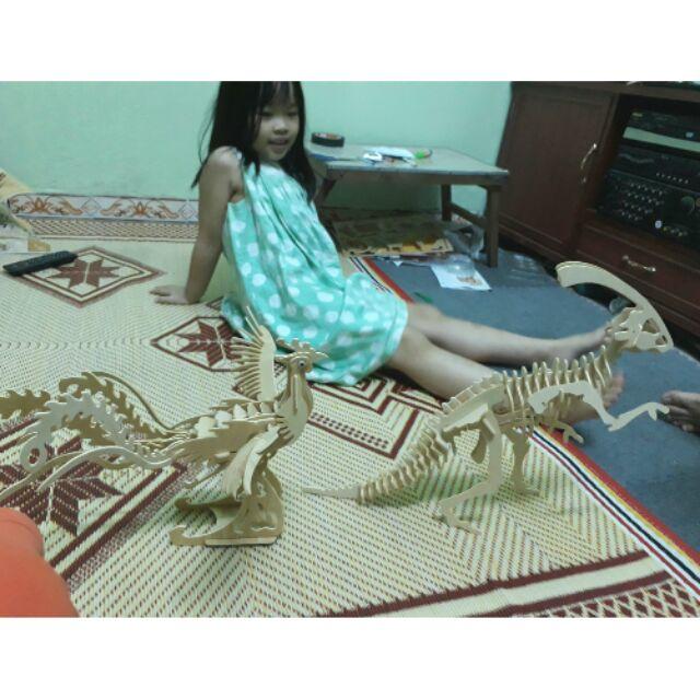 Mô hình lắp ráp 3D bằng gỗ hình phượng hoàng
