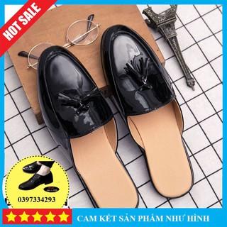 [SALE GIÁ GÔC] Giày lười Sục Nam Da Bóng  Sục nam cao cấp thoáng mát mặc quần áo đi du lịch đều đẹp  BẢO HÀNH 12 THÁNG