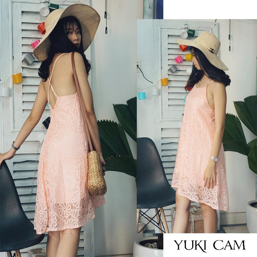 Đầm maxi ren yếm Yuki cam đầm yếm ren Hàng thiết kế - 3183656 , 1235943588 , 322_1235943588 , 360000 , Dam-maxi-ren-yem-Yuki-cam-dam-yem-ren-Hang-thiet-ke-322_1235943588 , shopee.vn , Đầm maxi ren yếm Yuki cam đầm yếm ren Hàng thiết kế