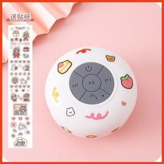 Loa Bluetooth Chống Nước 💖FREESHIP💖 Loa Mini Không Dây Gắn Tường, Nhà Tắm tặng kèm miếng dán Sticker Cute