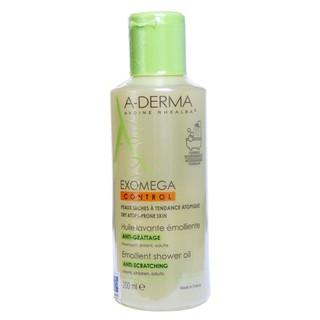 A-Derma Exomega Control Emollient Shower Oil: Sữa Tắm Dạng Dầu cho Da Viêm Cơ Địa & Da Rất Khô (200ml)