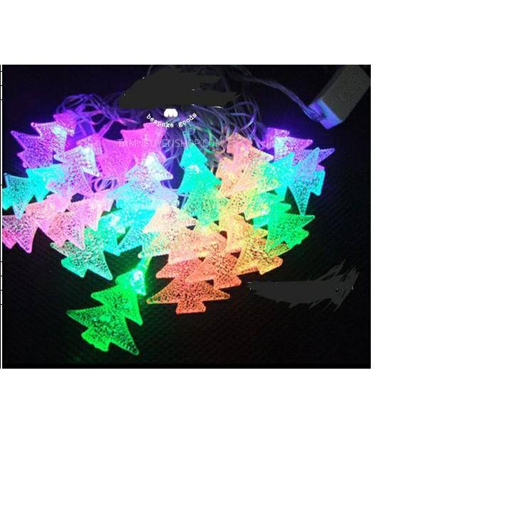 Dây đèn trang trí noen, tết 7 màu dài 4.2m (ảnh thật)