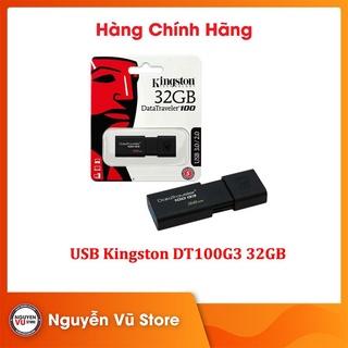 USB Kingston DT100G3 32GB 3.0 - Hàng Chính Hãng thumbnail